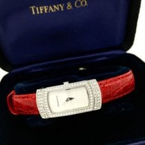 Tiffany & Co. 18k Solid White Gold Ladies Watch W Factory...