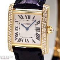 Cartier Tank Francaise Medium 18k Yellow Gold Diamond Setting...